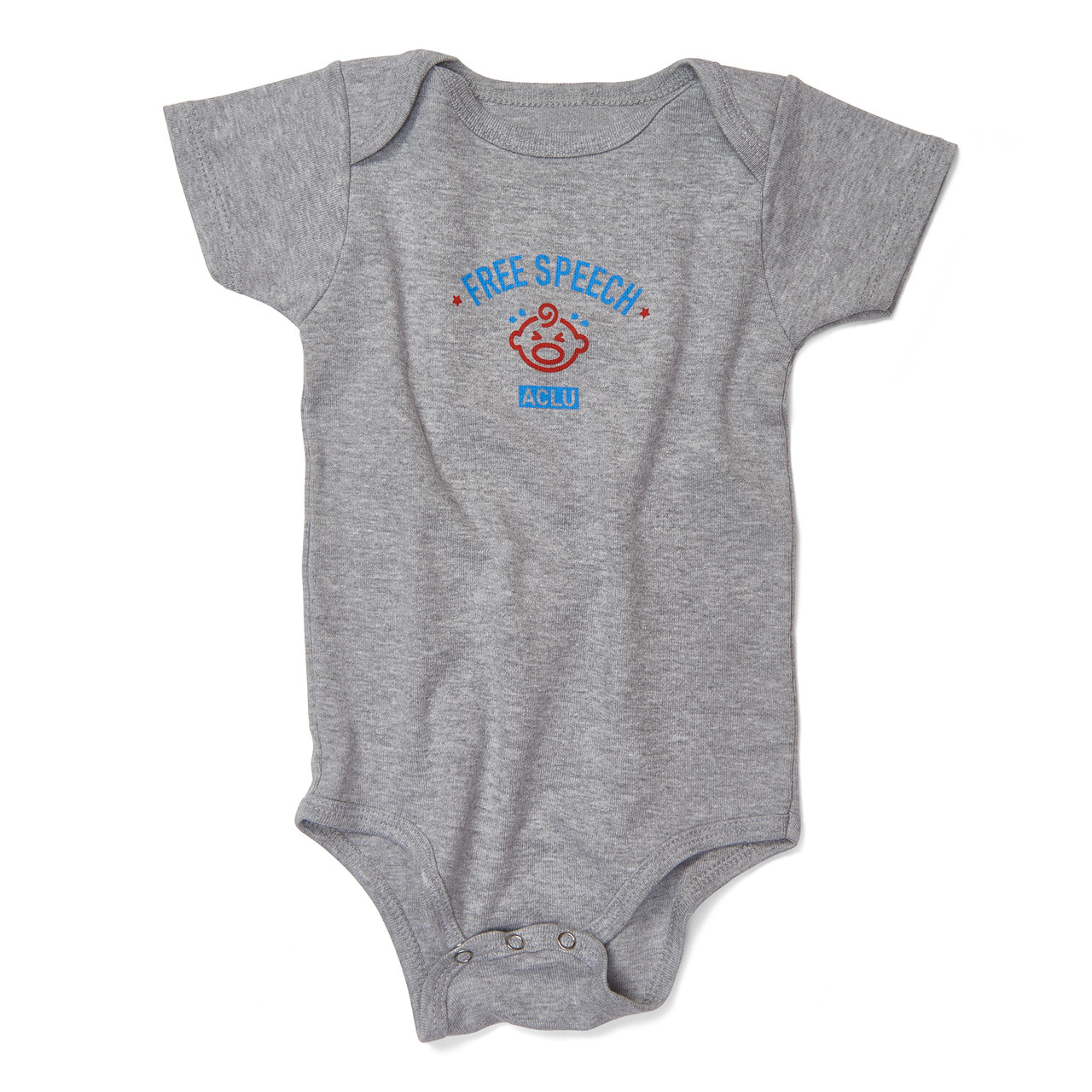 6f5a67585dfd Free Speech Onesie - Gray or Yellow - ACLU