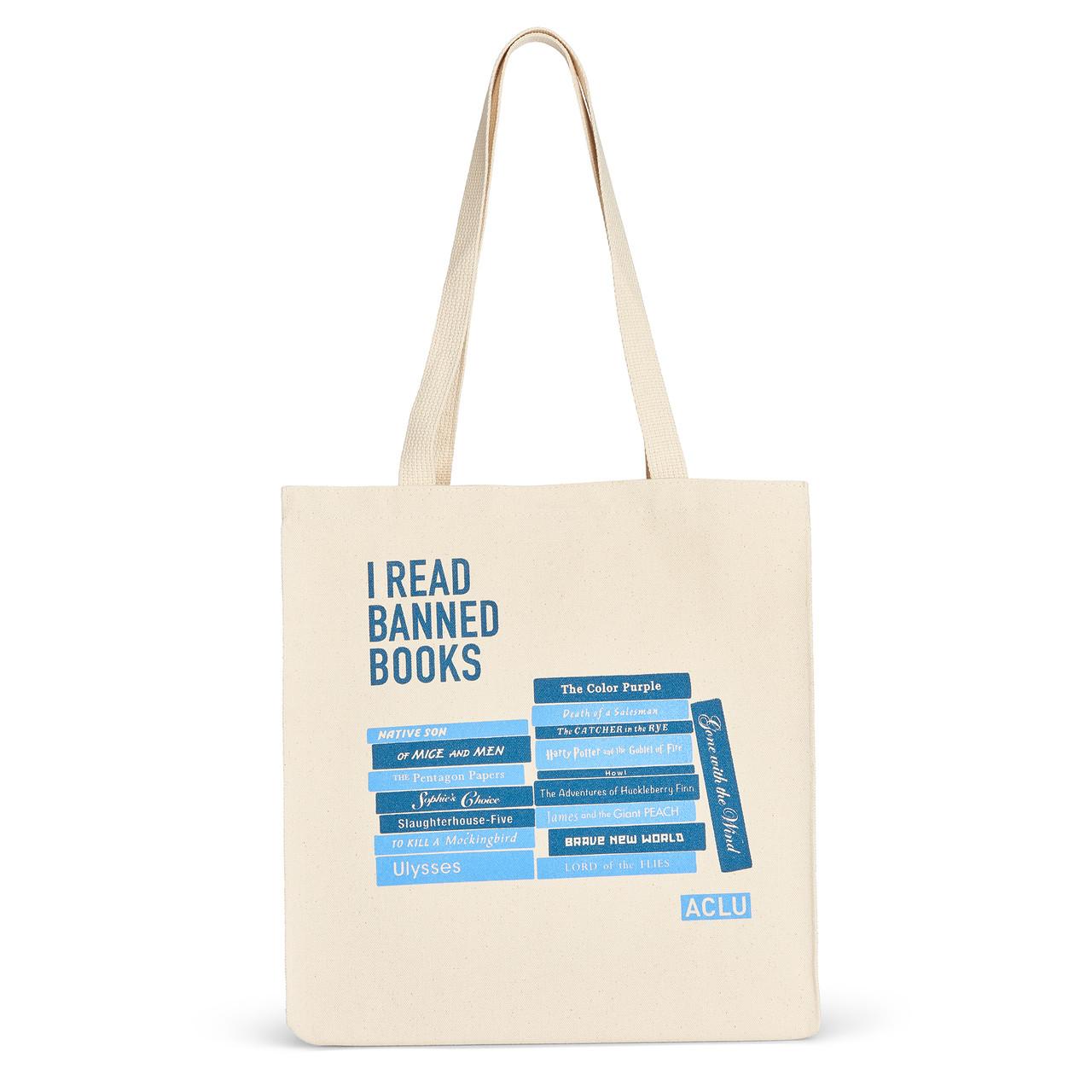 I Read Banned Books Tote - ACLU 041ea7357f87b