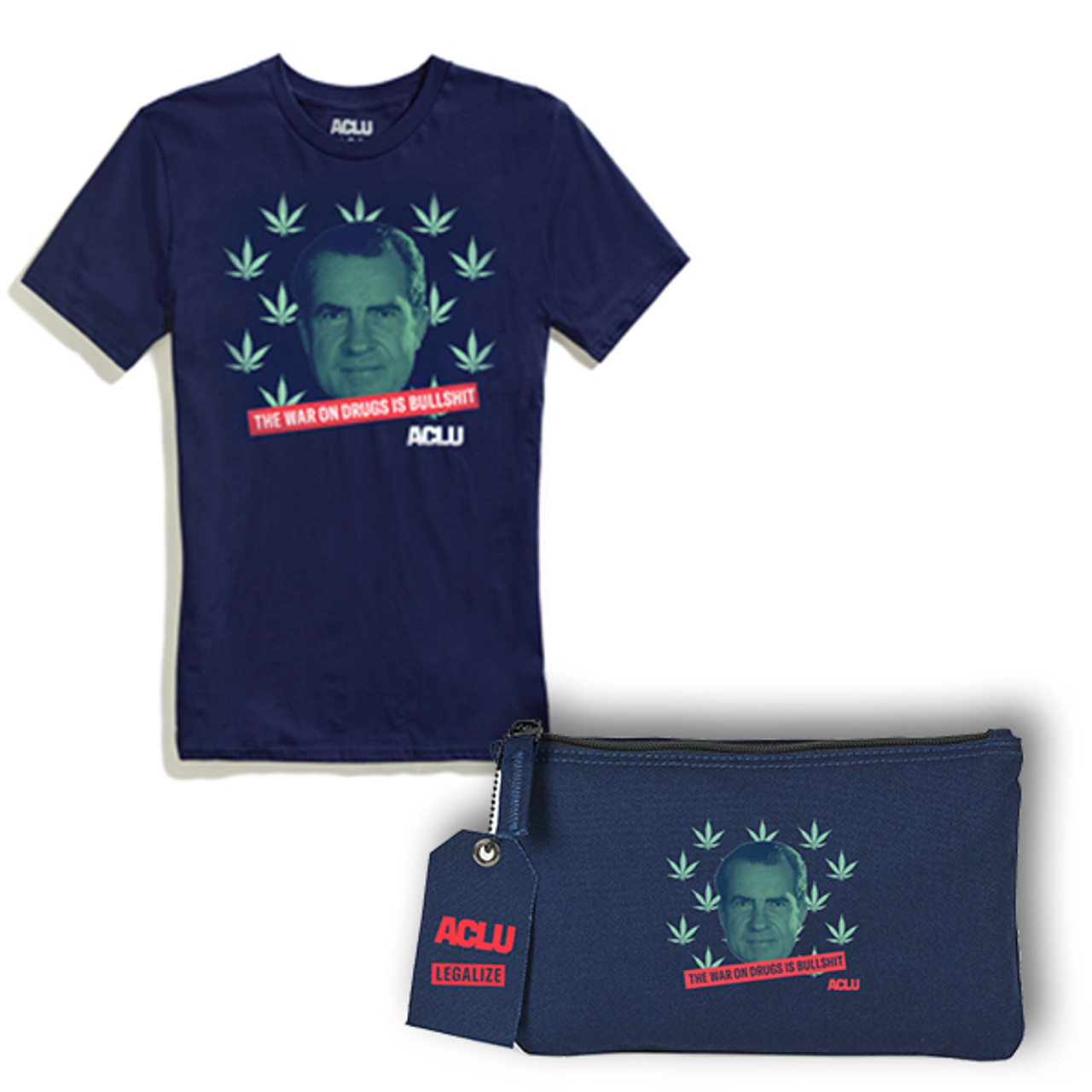 Limited Edition 4/20 War on Drugs set - shirt and pouch