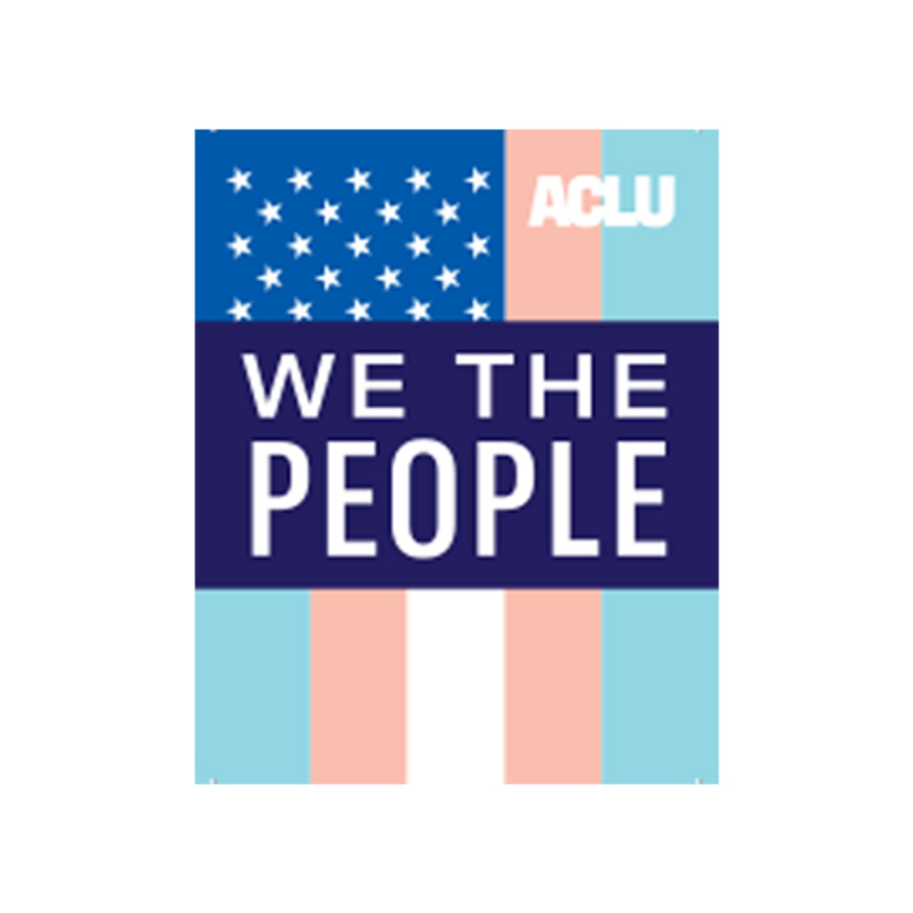 We The People Trans Flag Sticker Aclu