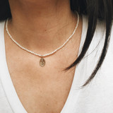 MIRACULOUS MEDAL PEARL NECKLACE