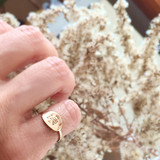 CHI-RHO OVAL RING