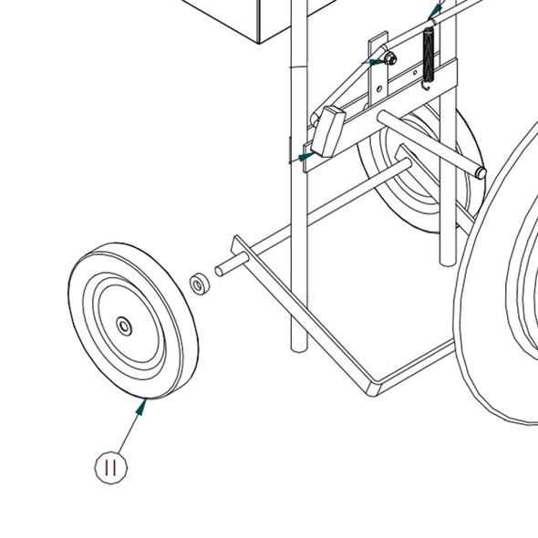 "MIP M5200-011 10"" Wheel for MIP Dispenser"