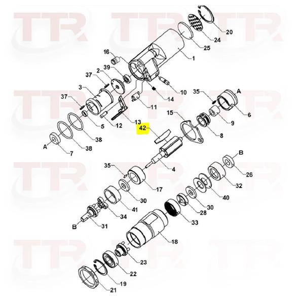 Signode 422818  VT-16, VT-19, VT-25 Vane Set Of 5