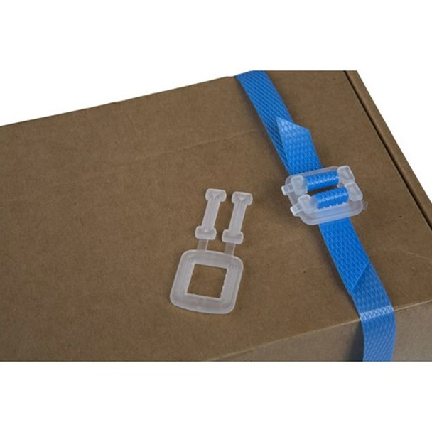 """Handy Strap Kit Self Dispensing Box Of 1/2"""" x 3000' Poly Strapping 300lbs Break Strength, Postal Approved"""