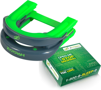 Original Green Zyppah:  Exclusive Hybrid Design – Guaranteed to Stop the Snoring -