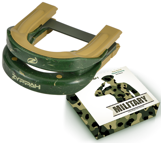Zyppah Military: Green Camouflage Hybrid Design – Guaranteed to Stop the Snoring
