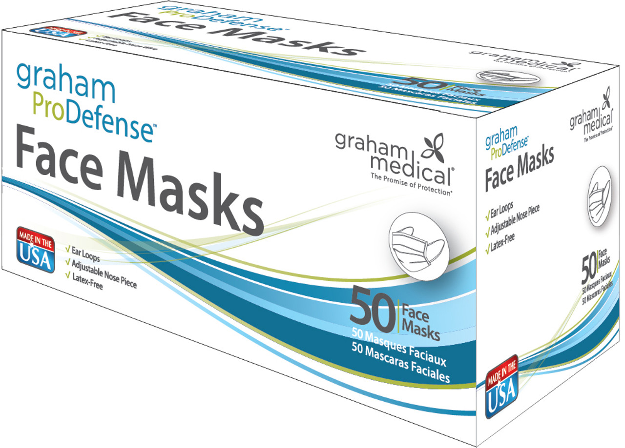 Graham ProDefense Unrated Disposable Face Masks, 50 ct.