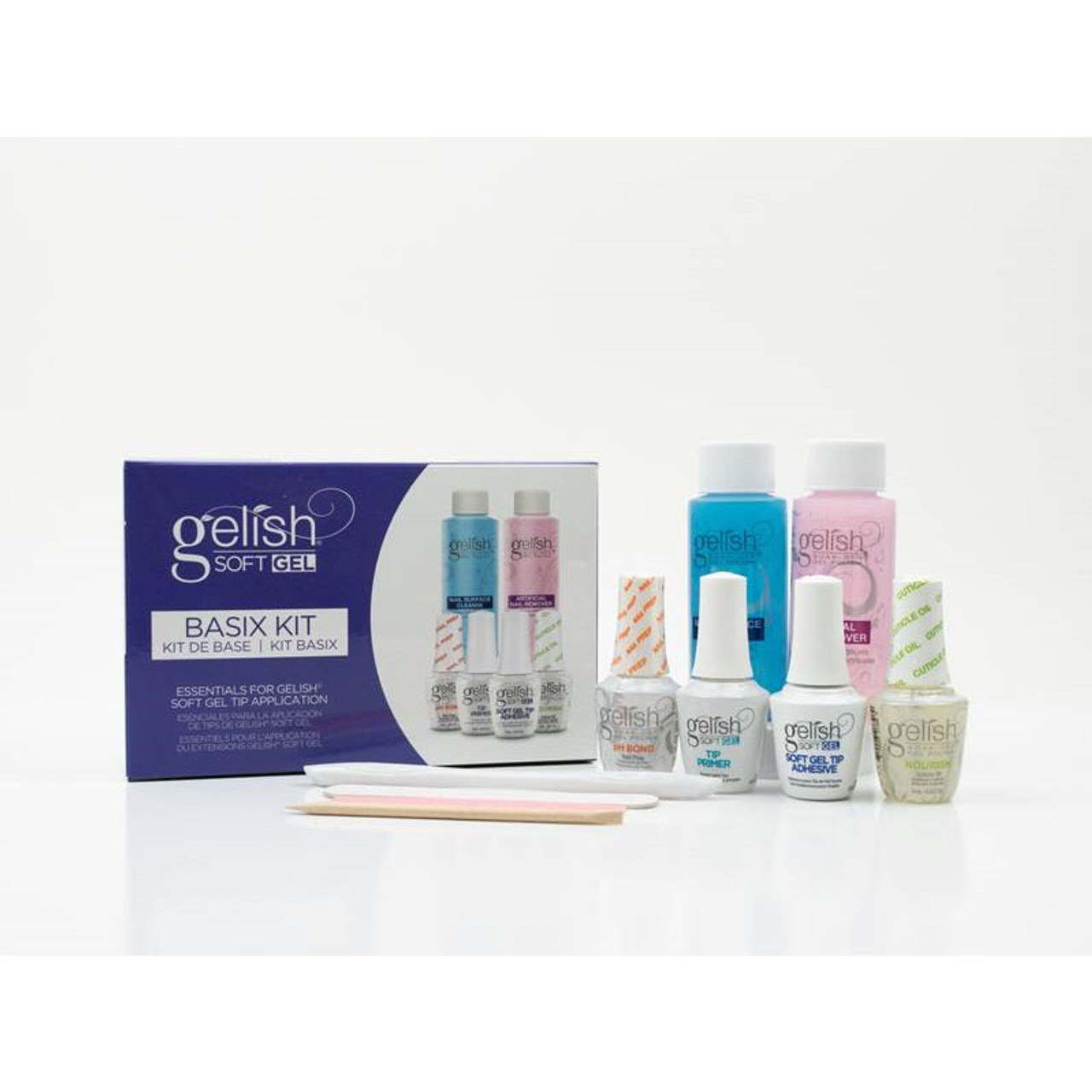 Gelish Soft Gel Bundle - Long Coffin Kit