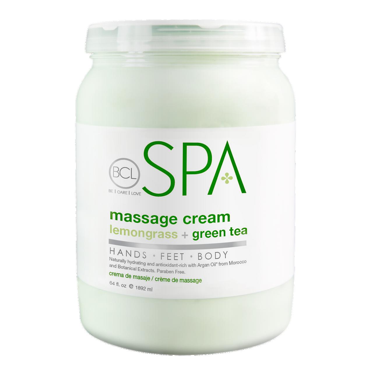 BCL SPA 64 oz. Massage Cream Lemongrass + Green Tea