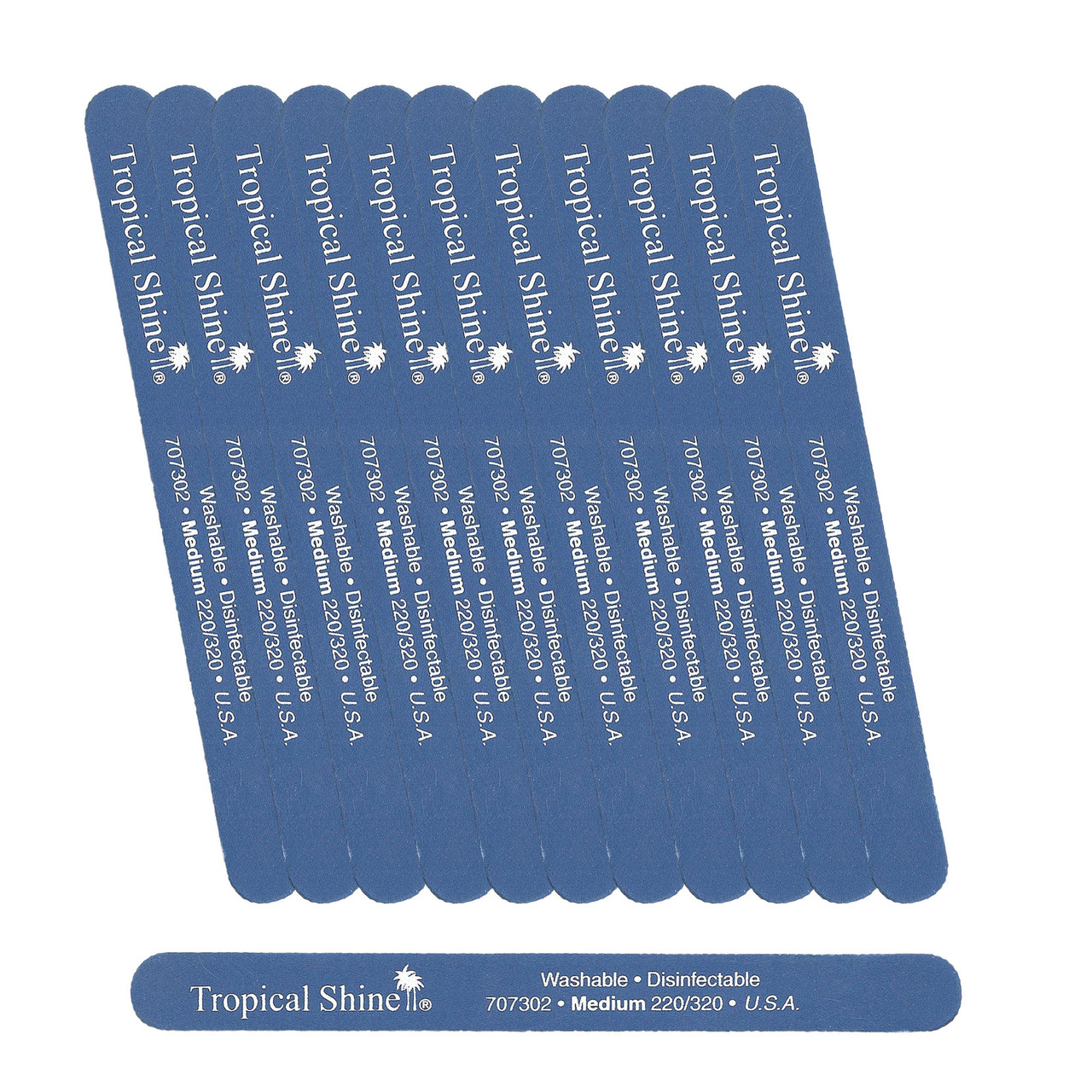 Tropical Shine Colossal Blue Nail File 220/ 320 (Medium/ Fine)- Case Pack of 50