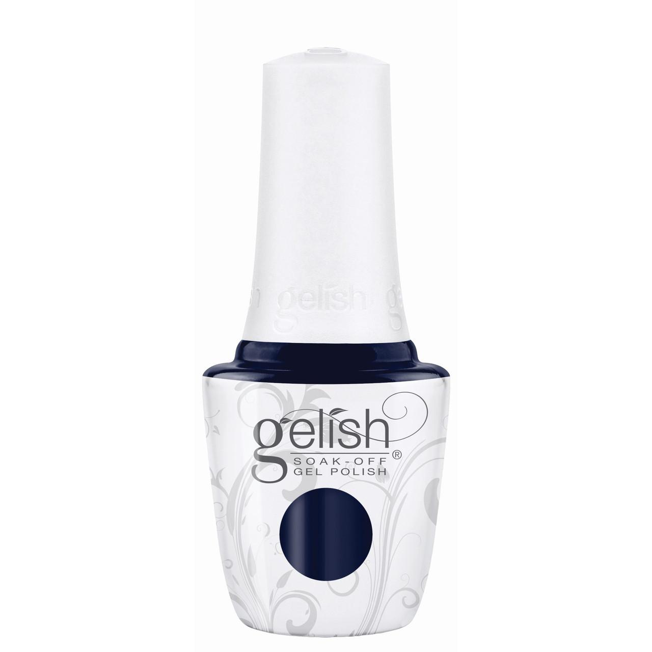 """Gelish Soak-Off Gel Polish """"Laying Low"""" - Rich Navy Blue Crème - 15 mL   .5 fl. Oz."""