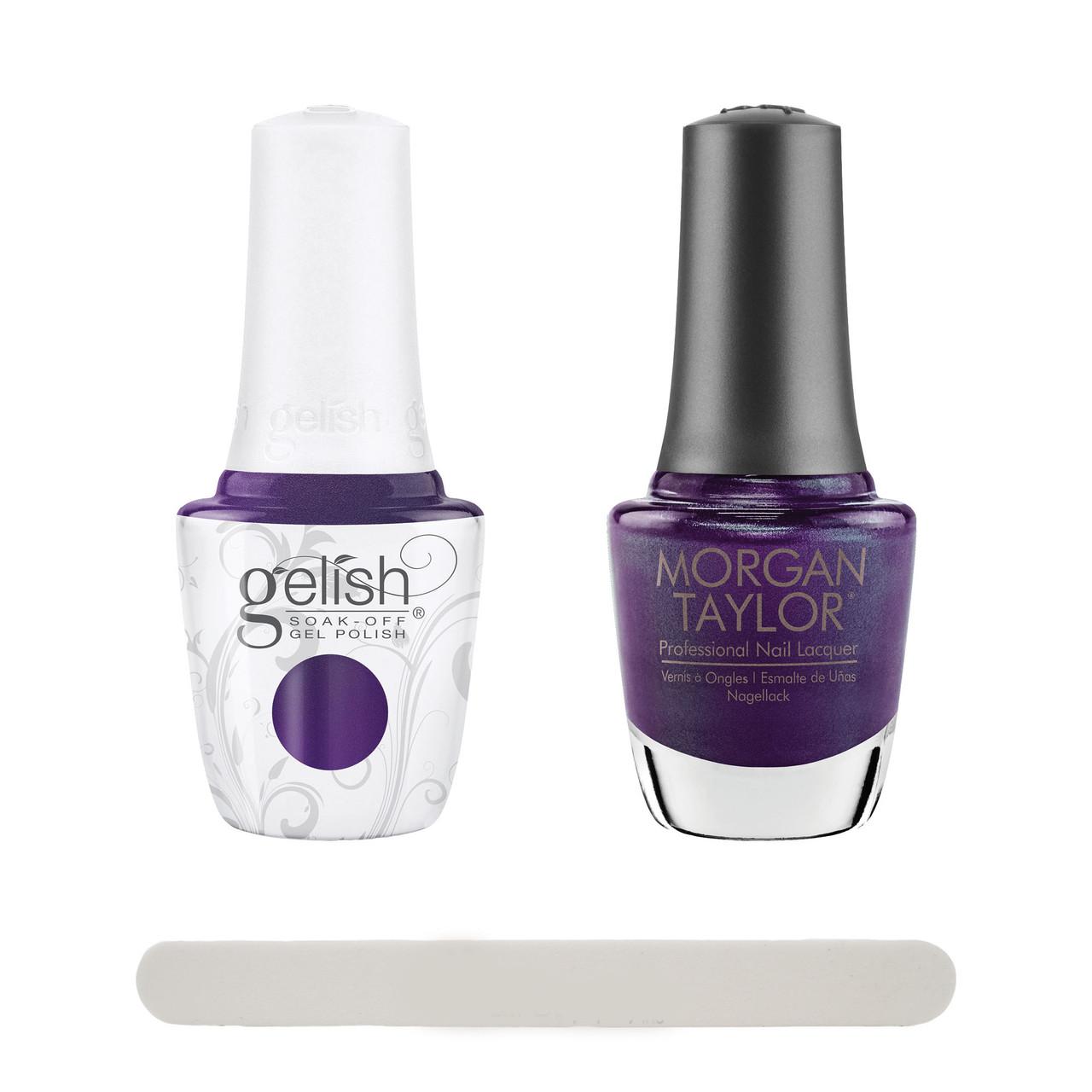 "Gelish Disney Villains ""Make 'Em Squirm"" 2 pc. Duo - Soak-Off Gel Polish and Lacquer - Purple/Blue Pearl"