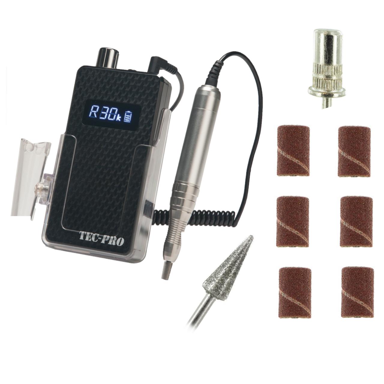Tec Pro Portable Nail Drill, Black