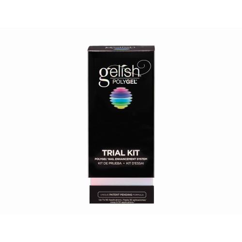 Gelish Polygel Trial Kit - Includes Natural Clear, 4oz Slip Solution, Tube Key, Polytool - 1720004