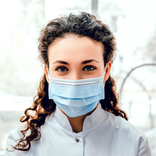 50-Pack Disposable, Nose Fitting 3-ply Face Mask, Olivia Garden Essentials