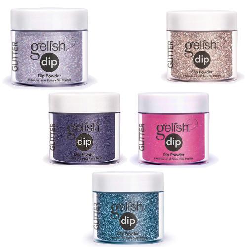 Nail Supply Inc's Gelish Dip Starter Kit Glitter Bundle - 10 Pieces