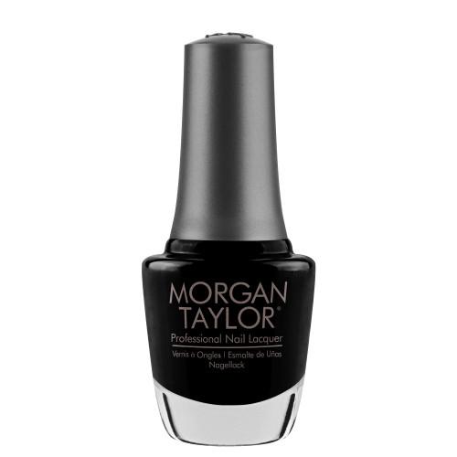 """Morgan Taylor """"Black Shadow"""" Nail Lacquer, .5 Oz"""