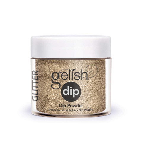 Gelish Professional Grade Salon Quality DIY Acrylic Dip Powder Starter Kit Set of 3 Colors with Free Nail File, Glitter Collection - 9 PC.