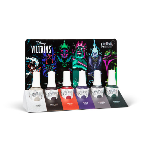 Gelish Fall 2020 Disney Villains Complete Collection with Display