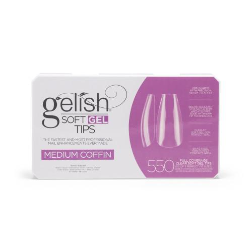 Gelish Soft Gel Tips - Medium Coffin 550 ct.