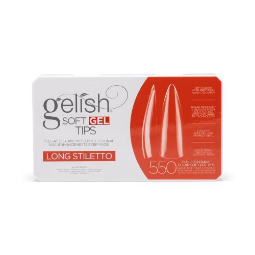 Gelish Soft Gel Tips - Long Stiletto 550 ct.