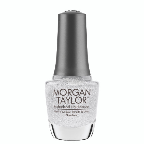"Morgan Taylor ""Liquid Frost"" - Silver Metallic with Chunky Glitter, 15 mL 
