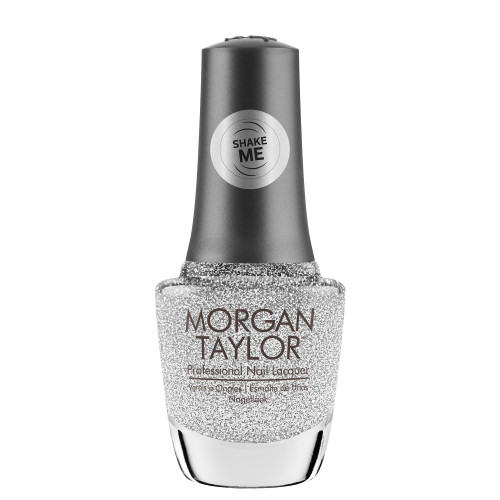 "Morgan Taylor ""The Shake Up"" - Silver Glitter Overlay, 15 mL 
