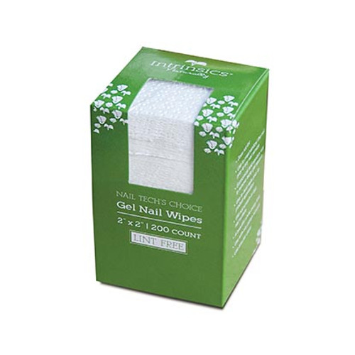 "Intrinsics Case of 25 boxes, 200 ct. ea. Nail Tech Choice Gel Nail Wipes , 2""x2"" lint free nail wipe"