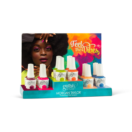 """Gelish Summer 2021 """"Feel the Vibes"""" 12 ct. Collection"""