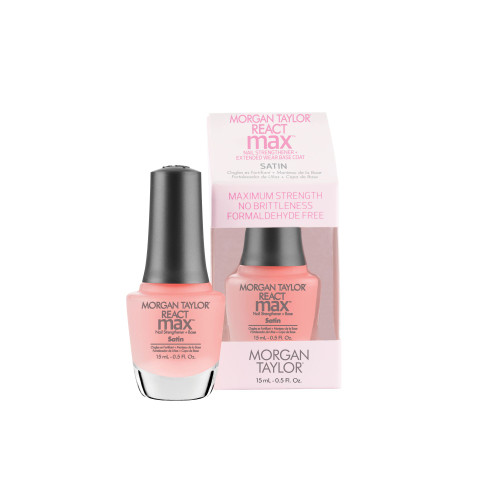 Morgan Taylor Reactmax Satin Nail Strengthener + Extended Wear Base Coat, 15 mL | .5 fl oz