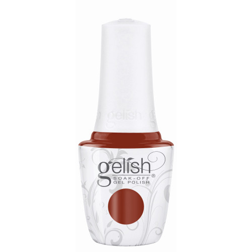 """Gelish """"Afternoon Escape"""" 2 pc. Duo - Soak Off Gel Polish and Lacquer - Burnt Orange Creme"""