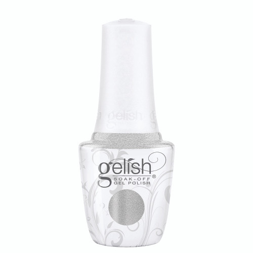 Gelish 18G Plus LED Light with Silver Metallic Soak-Off Gel Polish + Top and Base Coats