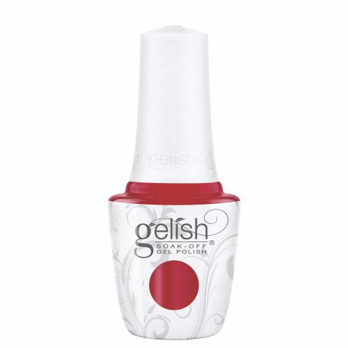 Gelish 18G Plus LED Light with Red Shimmer Soak-Off Gel Polish + Top and Base Coats