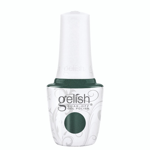 Gelish 18G Plus LED Light with Emerald Glitter Soak-Off Gel Polish + Top and Base Coats
