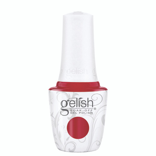 """Gelish Disney Villains """"Just One Bite"""" 2 pc. Duo - Soak-Off Gel Polish and Lacquer - Candy Apple Red Shimmer"""