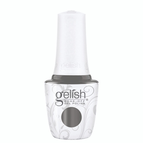 """Gelish Disney Villains """"Smoke The Competition"""" 2 pc. Duo - Soak-Off Gel Polish and Lacquer - Concrete Gray Creme"""