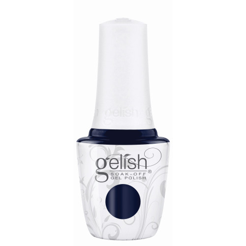 """Gelish """"Laying Low"""" 2 pc. Duo - Soak Off Gel Polish and Lacquer - Rich Navy Blue Creme"""