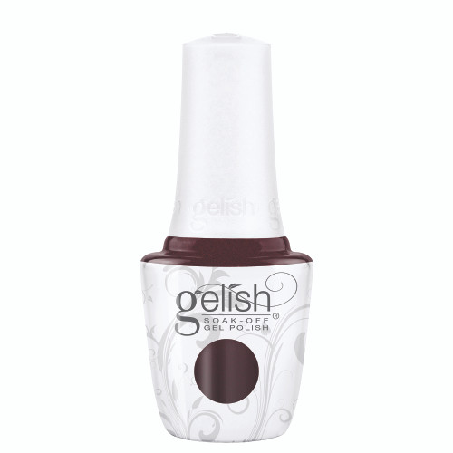 """Gelish Disney Villains """"You're In My World Now"""" 2 pc. Duo - Soak-Off Gel Polish and Lacquer - Deep Burgundy Pearl"""