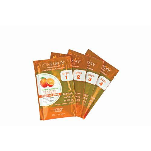 BareLuxury Energy Orange & Lemongrass 4 Pack - Includes 1 Each Of Soak, Masque, Scrub, Massage Butter
