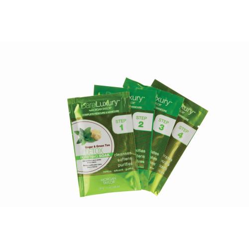 BareLuxury Detox Ginger & Green Tea 4 Pack - Includes 1 Each Of Soak, Masque, Scrub, Massage Butter