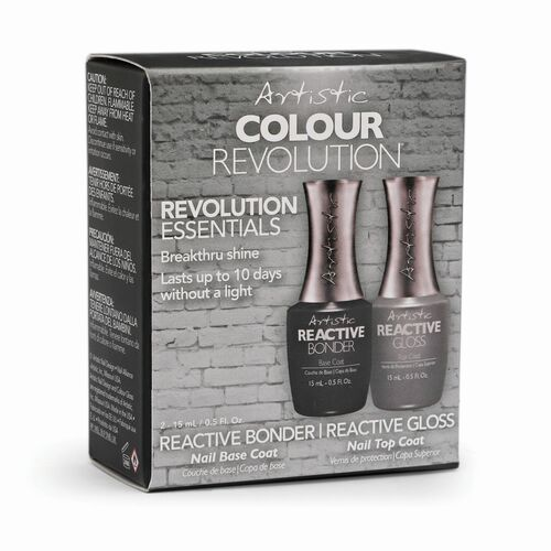 Artistic Nail Design Revolution Essentials Pk- Reactive Bonder & Reactive Gloss