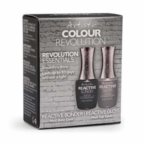 Artistic Nail Design Revolution Essentials Pk- Reactive Bonder & Reactive Gloss