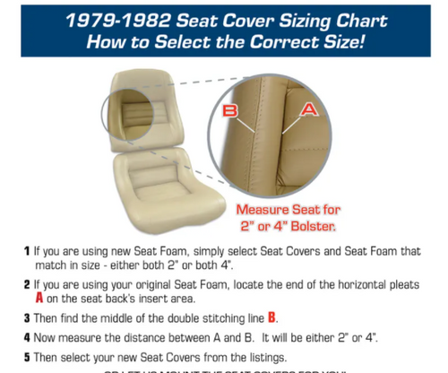 1978 Pace 1979 - 1982 Corvette C3 MOUNTED Leather/Vinyl OEM Seat Cover Set
