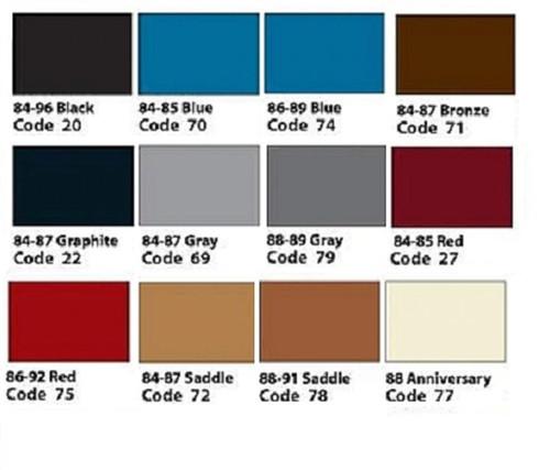 1984 - 1989 Corvette C4 Armrest Covers Pair (Choose Color)