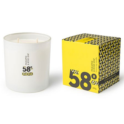 pineapple & rose leaf large soy candle