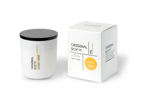 original soy candle 250g matt white