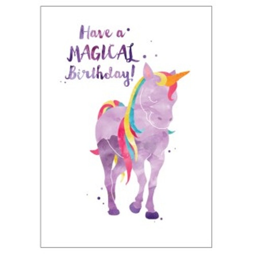 have a magical birthday unicorn greeting card