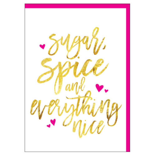 sugar spica and everything nice - greeting card