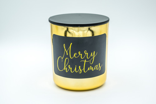 Gold Merry Christmas Soy Candle - Medium